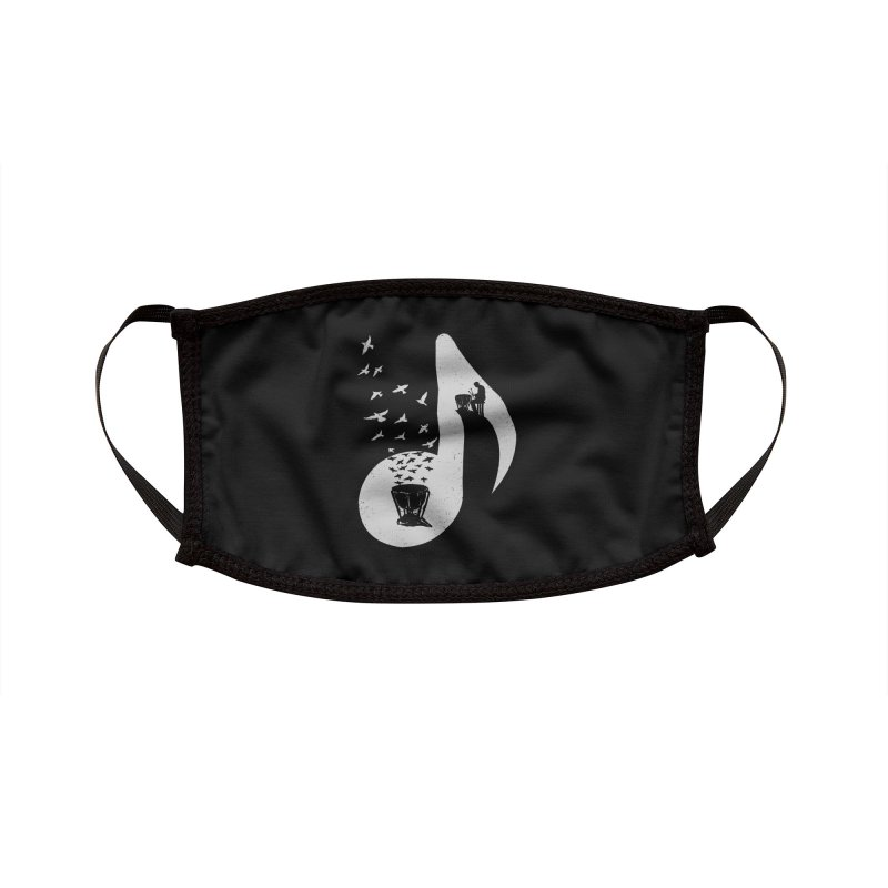 Musical note - Timpani Accessories Face Mask by barmalisiRTB