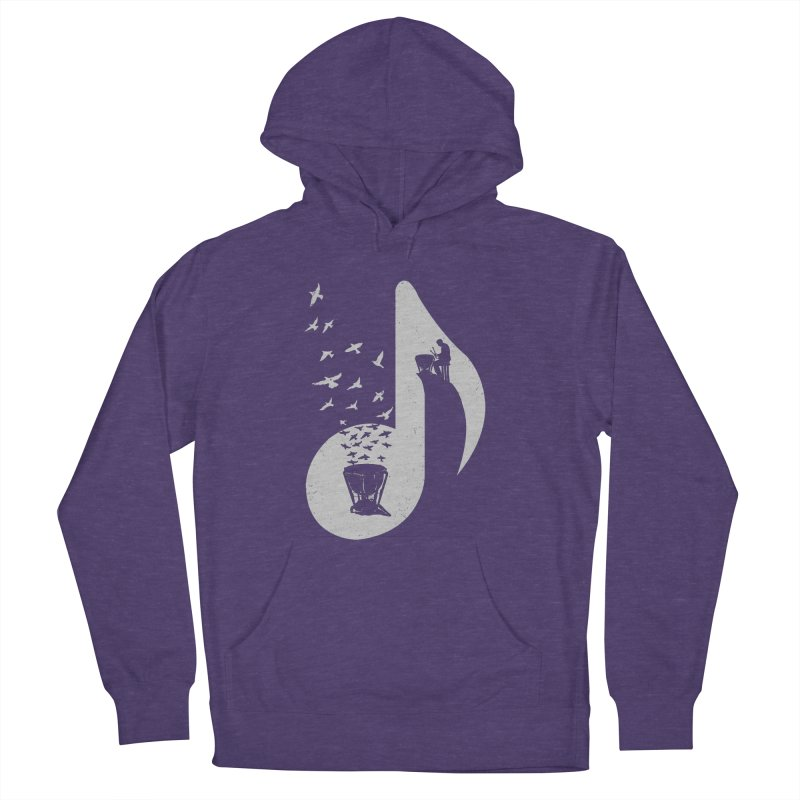 Musical note - Timpani Men's French Terry Pullover Hoody by barmalisiRTB