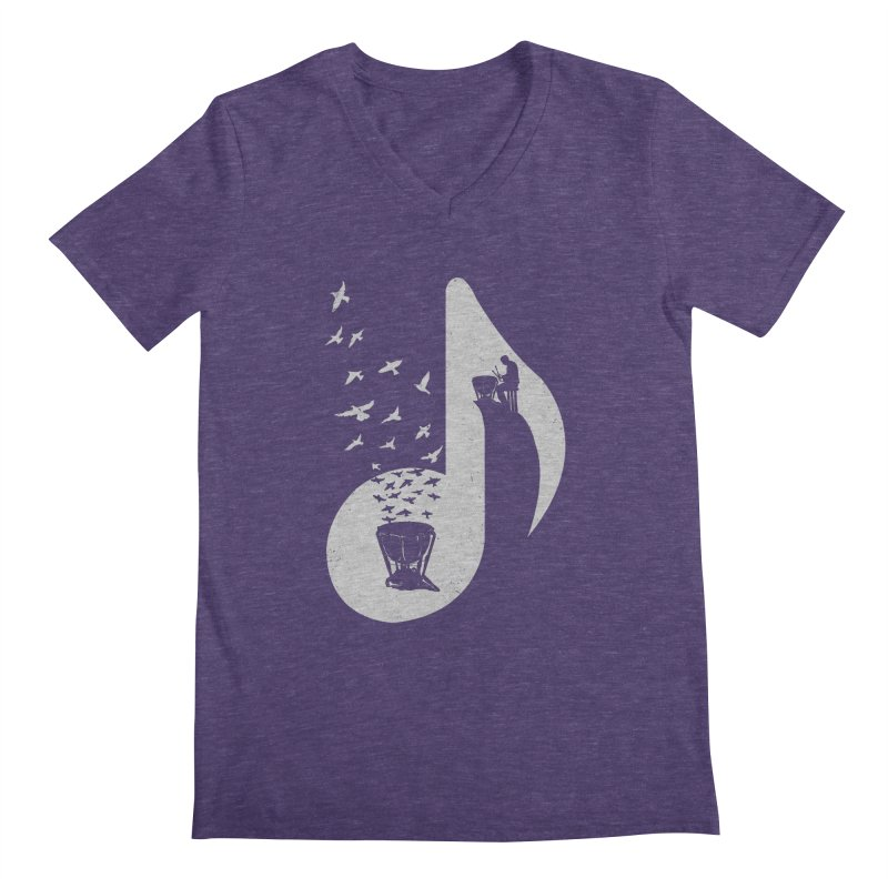 Musical note - Timpani Men's V-Neck by barmalisiRTB