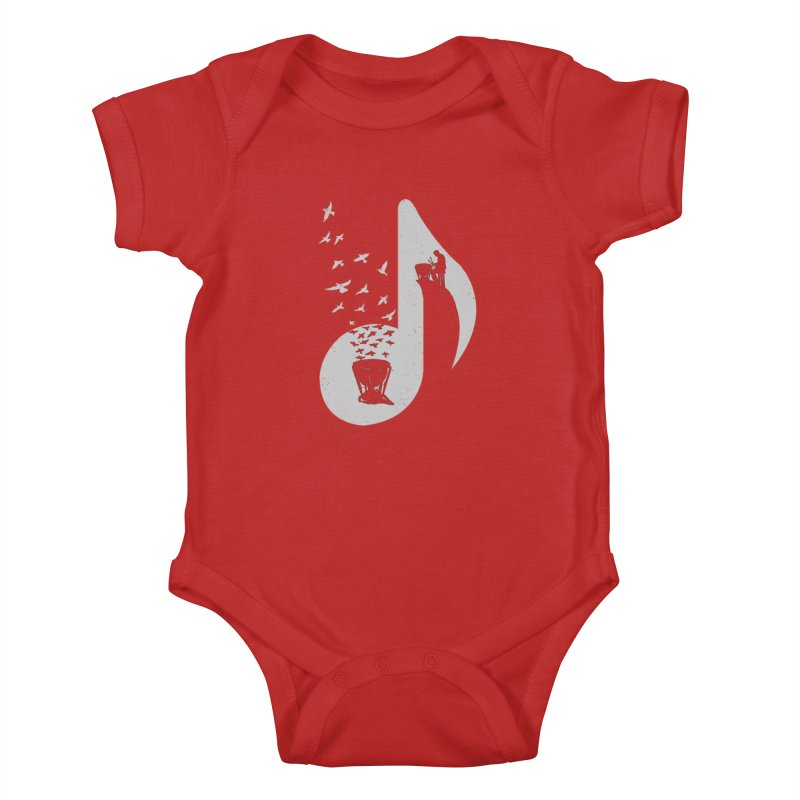 Musical note - Timpani Kids Baby Bodysuit by barmalisiRTB
