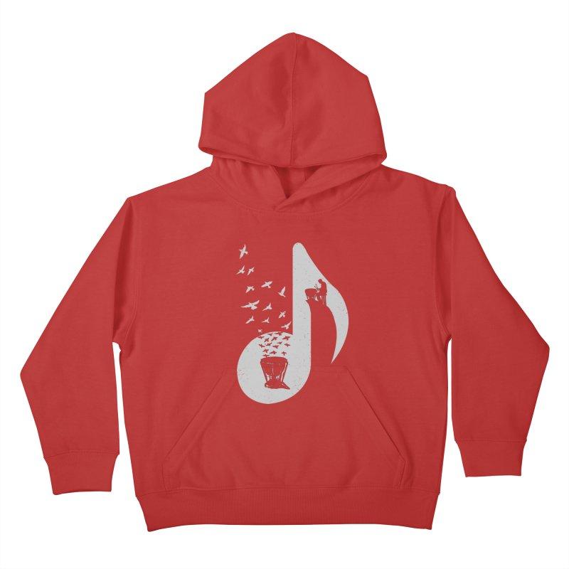 Musical note - Timpani Kids Pullover Hoody by barmalisiRTB