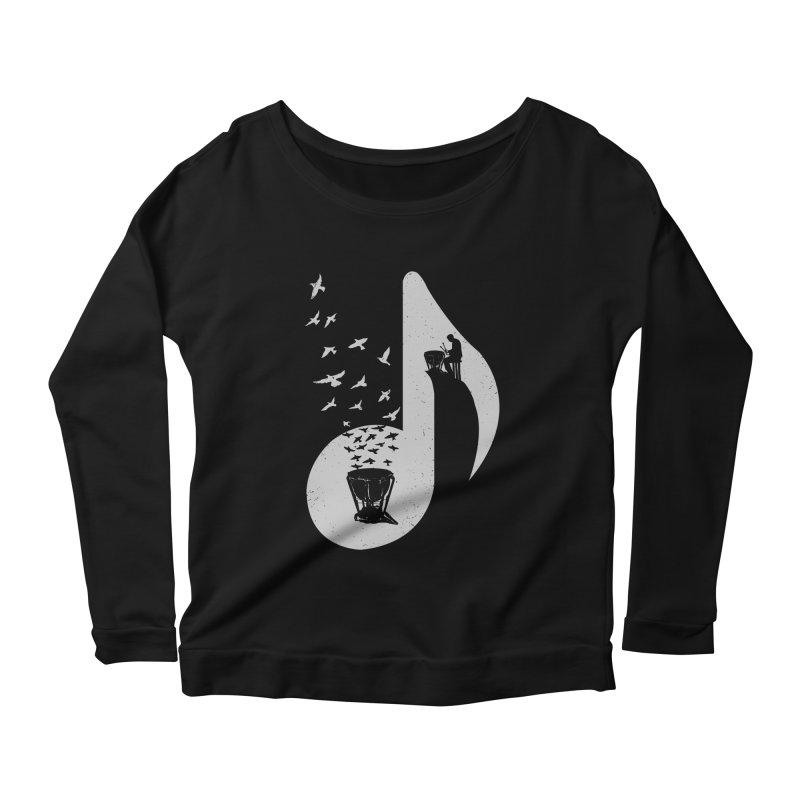 Musical note - Timpani Women's Longsleeve Scoopneck  by barmalisiRTB