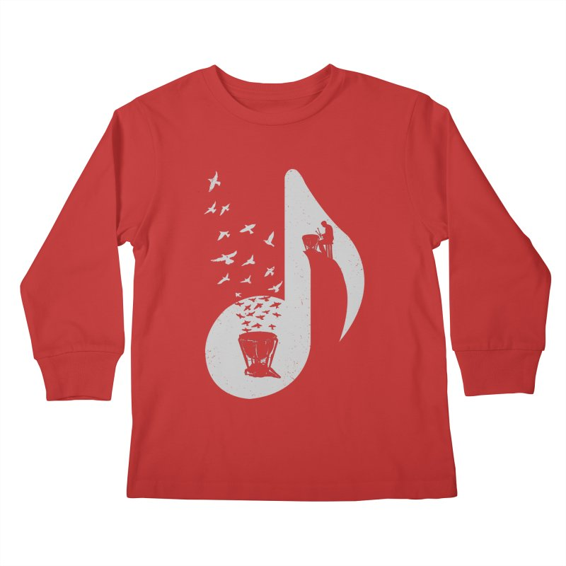 Musical note - Timpani Kids Longsleeve T-Shirt by barmalisiRTB