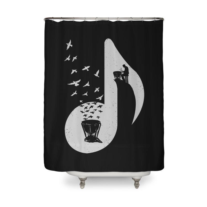 Musical note - Timpani Home Shower Curtain by barmalisiRTB