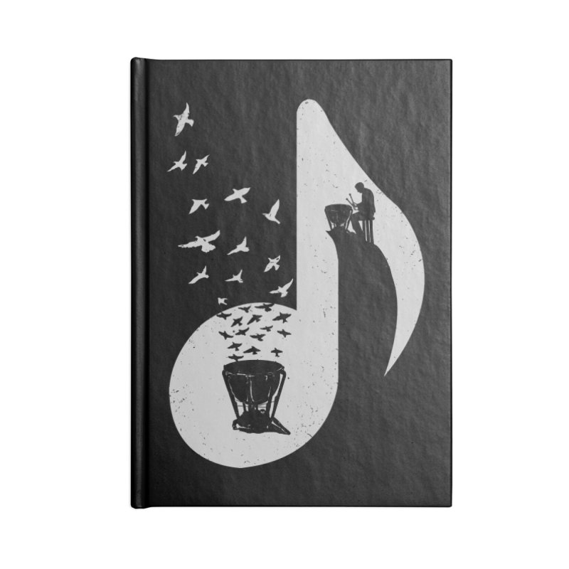 Musical note - Timpani Accessories Notebook by barmalisiRTB
