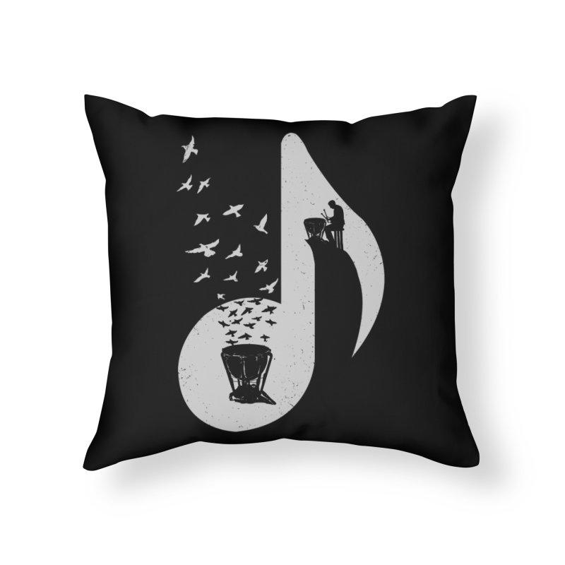 Musical note - Timpani Home Throw Pillow by barmalisiRTB