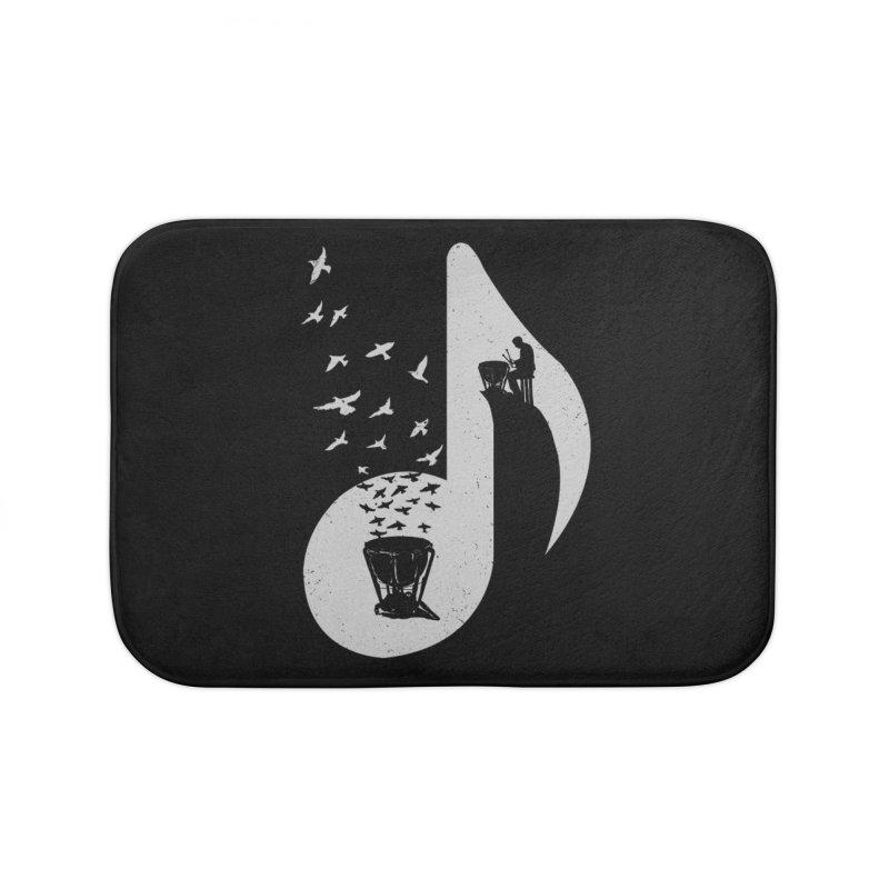 Musical note - Timpani Home Bath Mat by barmalisiRTB