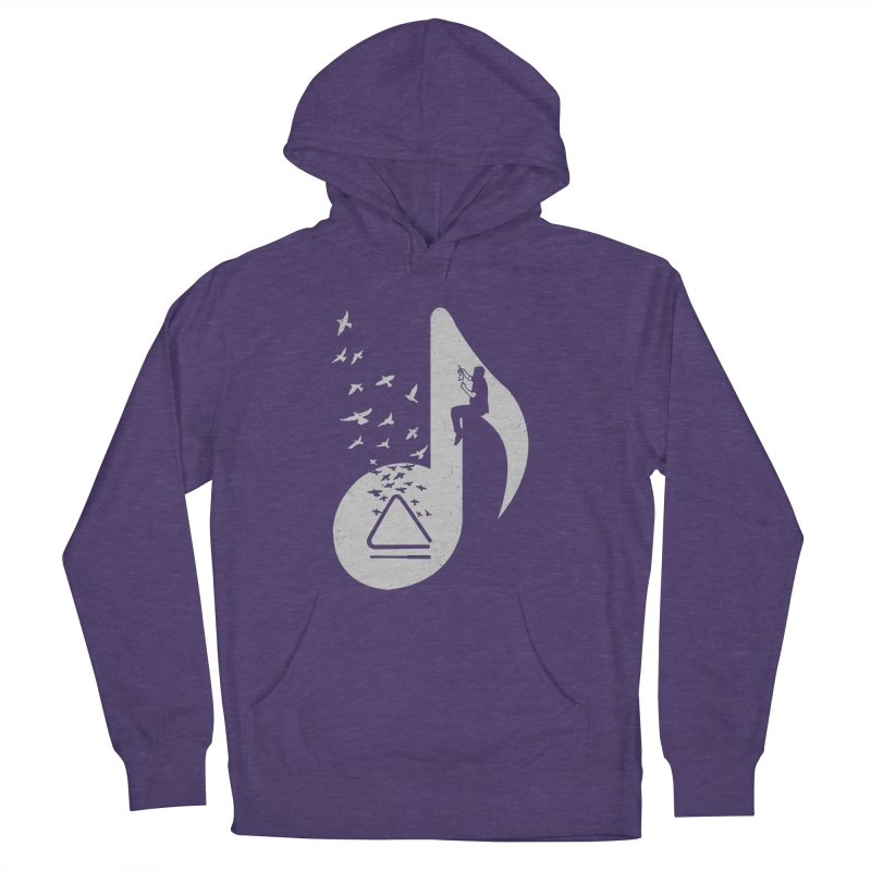Musical note - Triangle Men's Pullover Hoody by barmalisiRTB