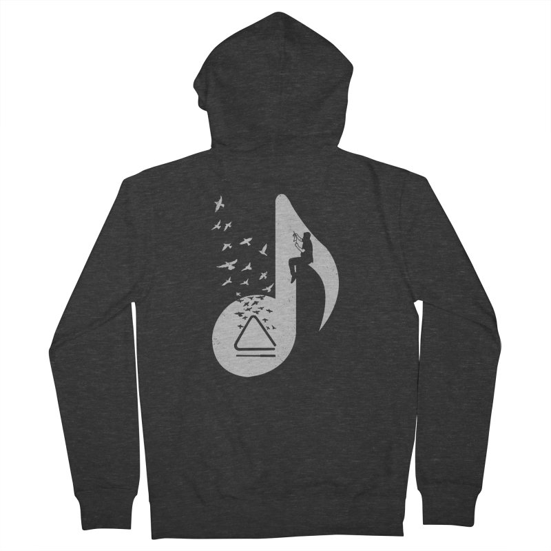 Musical note - Triangle Men's Zip-Up Hoody by barmalisiRTB