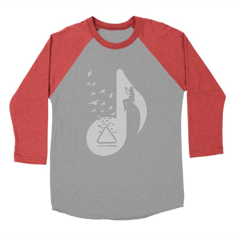 Musical note - Triangle Men's Baseball Triblend T-Shirt by barmalisiRTB