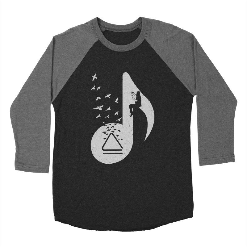 Musical note - Triangle Men's Baseball Triblend Longsleeve T-Shirt by barmalisiRTB