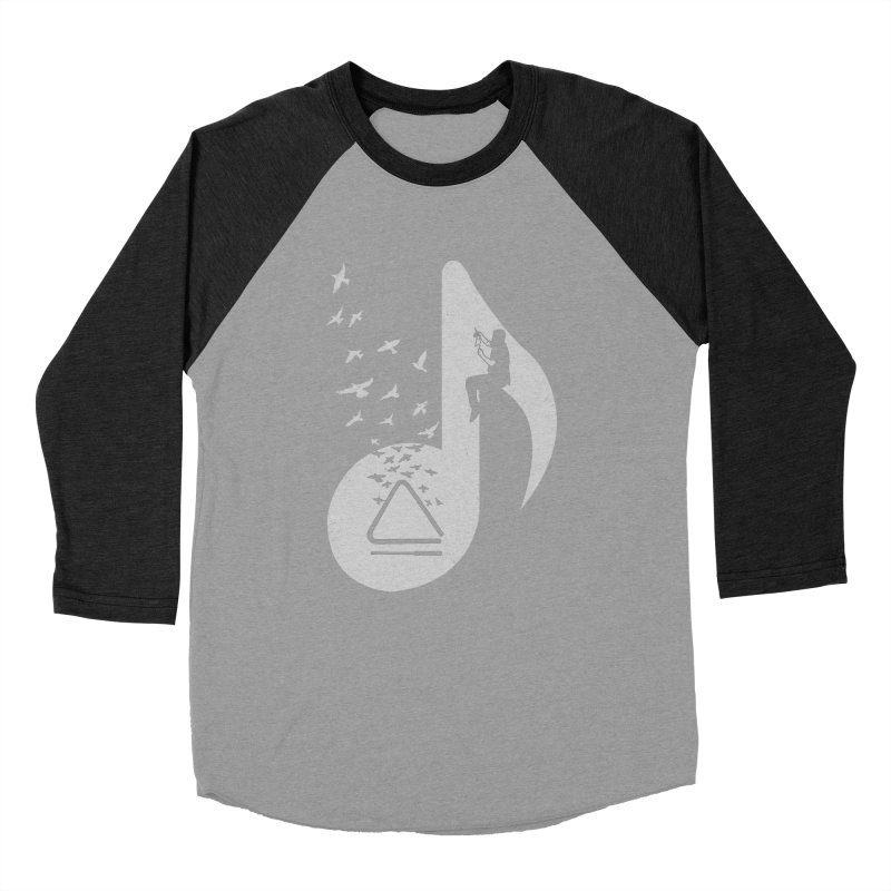 Musical note - Triangle Men's Baseball Triblend T-Shirt by barmalisiRTB