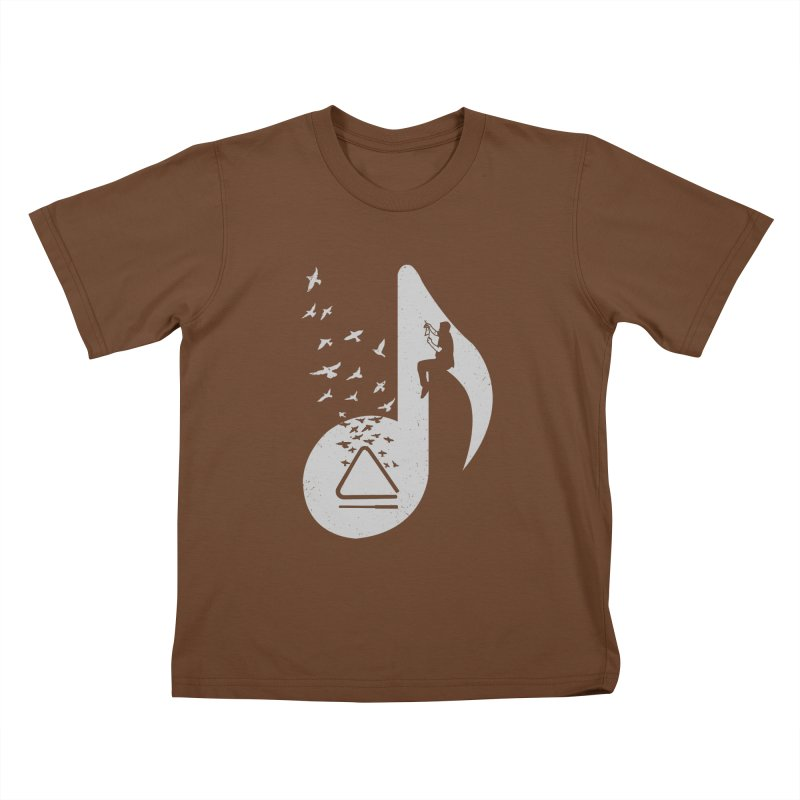 Musical note - Triangle Kids T-Shirt by barmalisiRTB