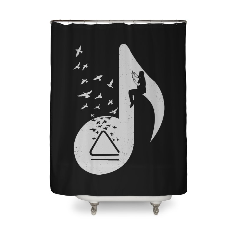 Musical note - Triangle Home Shower Curtain by barmalisiRTB