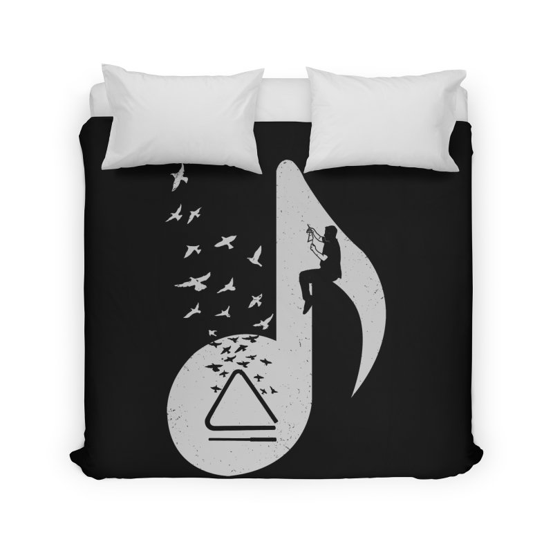 Musical note - Triangle Home Duvet by barmalisiRTB