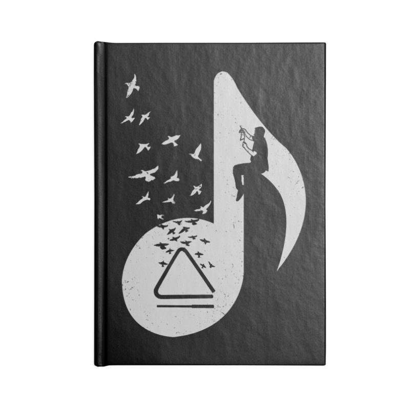 Musical note - Triangle Accessories Notebook by barmalisiRTB