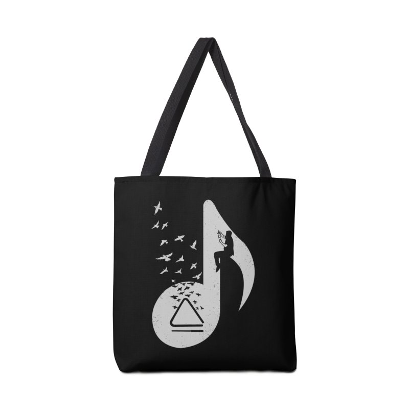 Musical note - Triangle Accessories Bag by barmalisiRTB