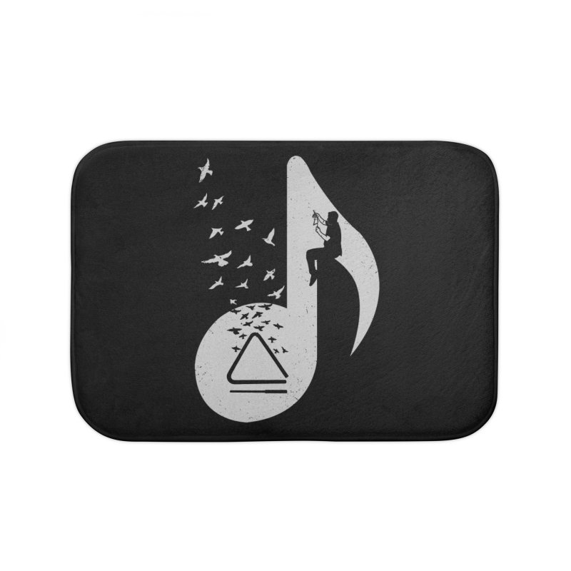 Musical note - Triangle Home Bath Mat by barmalisiRTB