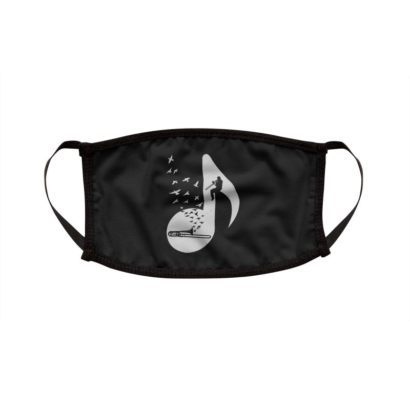 Musical note - Trombone Accessories Face Mask by barmalisiRTB