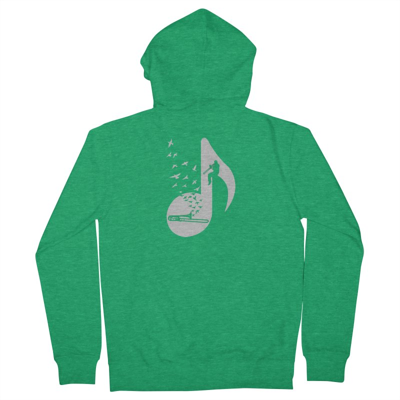 Musical note - Trombone Women's Zip-Up Hoody by barmalisiRTB