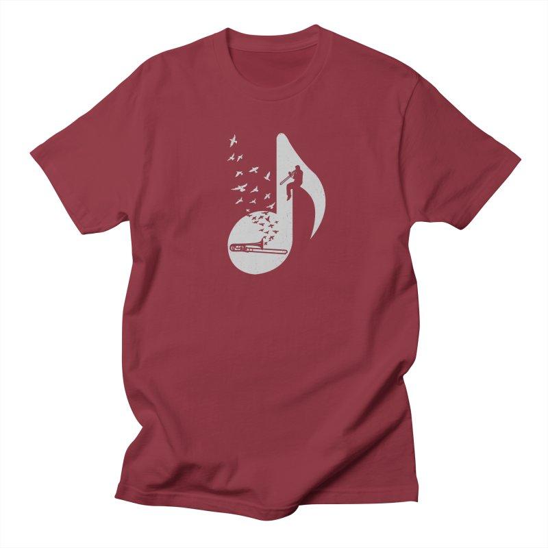 Musical note - Trombone Men's T-Shirt by barmalisiRTB