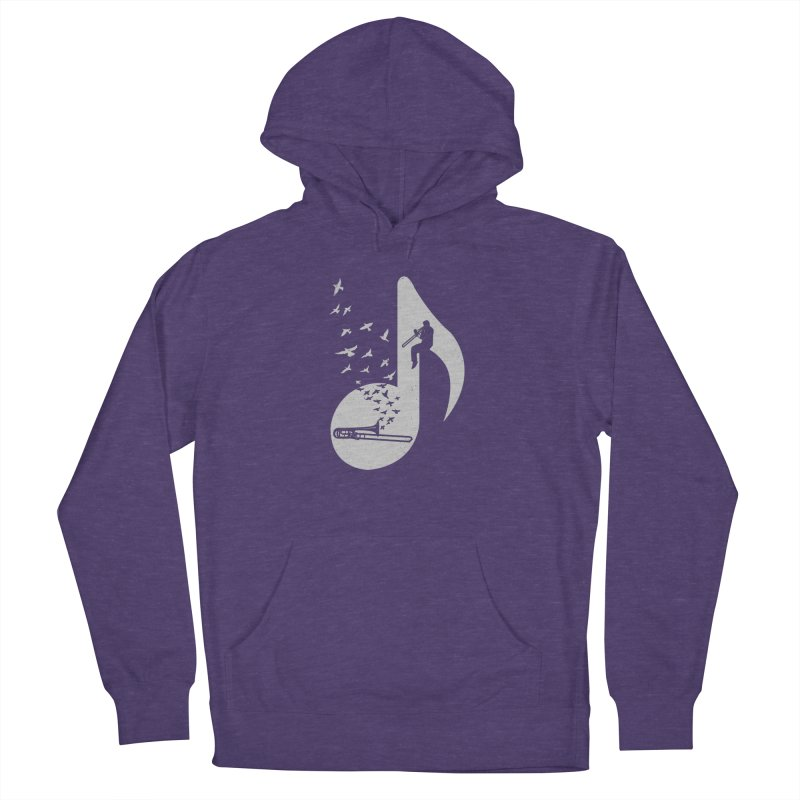 Musical note - Trombone Men's Pullover Hoody by barmalisiRTB