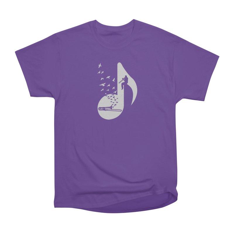 Musical note - Trombone Men's Heavyweight T-Shirt by barmalisiRTB