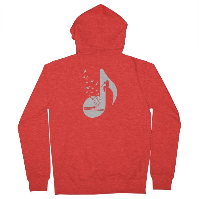 Musical note - Trombone Women's Zip-Up Hoody by barmalisiRTB