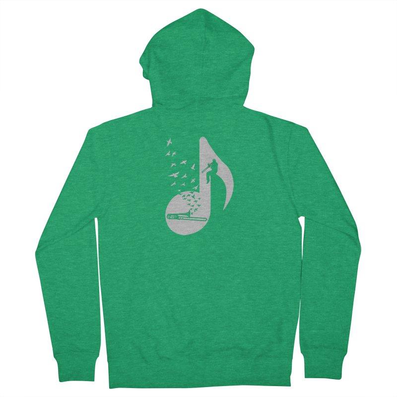 Musical note - Trombone Men's Zip-Up Hoody by barmalisiRTB