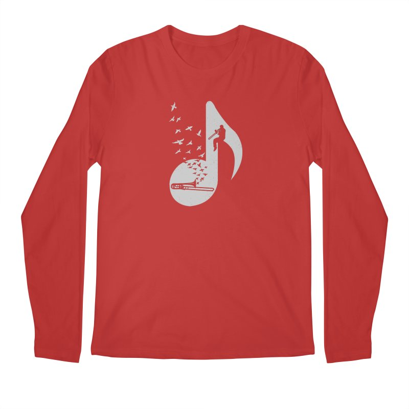 Musical note - Trombone Men's Longsleeve T-Shirt by barmalisiRTB