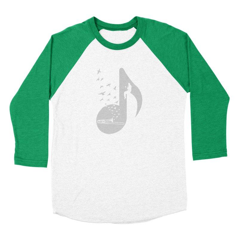 Musical note - Trombone Women's Baseball Triblend Longsleeve T-Shirt by barmalisiRTB