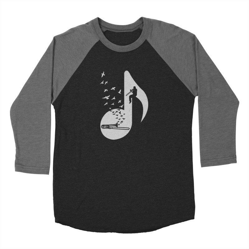 Musical note - Trombone Men's Baseball Triblend Longsleeve T-Shirt by barmalisiRTB