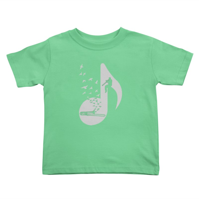 Musical note - Trombone Kids Toddler T-Shirt by barmalisiRTB