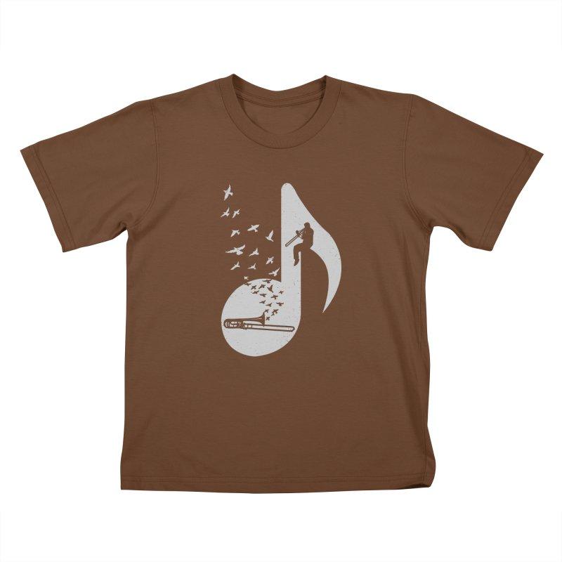 Musical note - Trombone Kids T-Shirt by barmalisiRTB