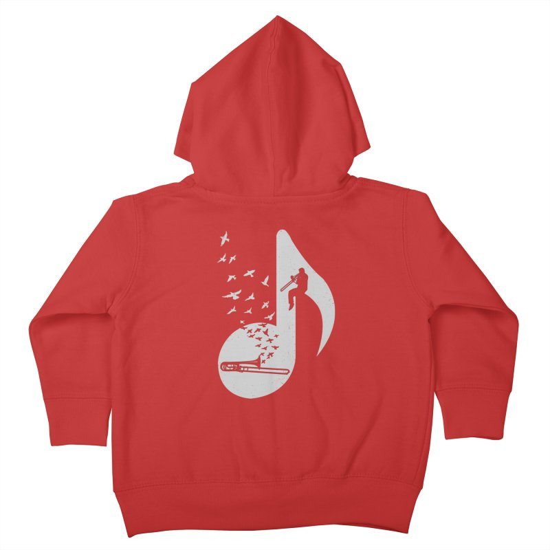Musical note - Trombone Kids Toddler Zip-Up Hoody by barmalisiRTB