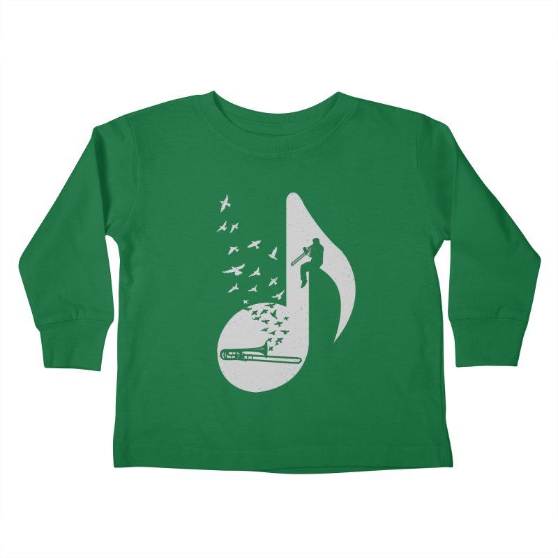 Musical note - Trombone Kids Toddler Longsleeve T-Shirt by barmalisiRTB