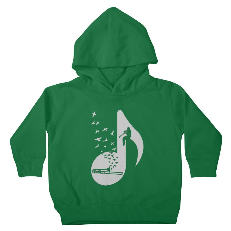 Musical note - Trombone Kids Toddler Pullover Hoody by barmalisiRTB