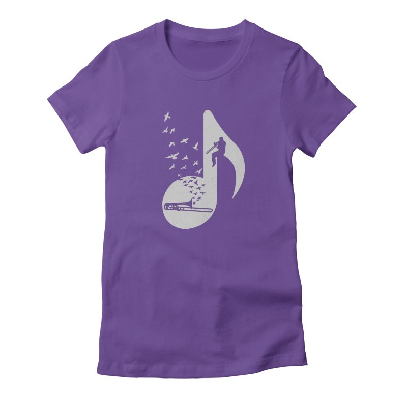 Musical note - Trombone Women's T-Shirt by barmalisiRTB