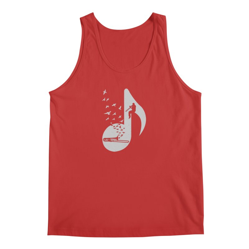Musical note - Trombone Men's Tank by barmalisiRTB