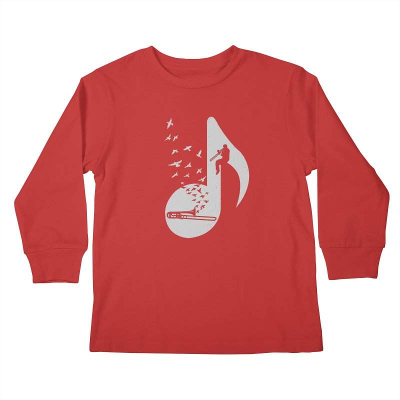 Musical note - Trombone Kids Longsleeve T-Shirt by barmalisiRTB