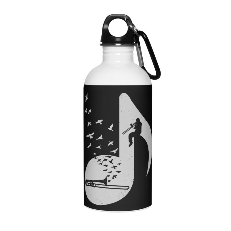 Musical note - Trombone Accessories Water Bottle by barmalisiRTB