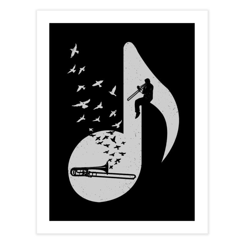 Musical note - Trombone Home Fine Art Print by barmalisiRTB