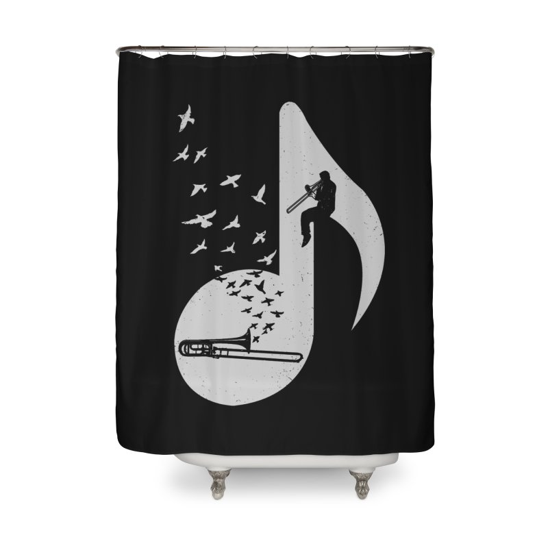 Musical note - Trombone Home Shower Curtain by barmalisiRTB