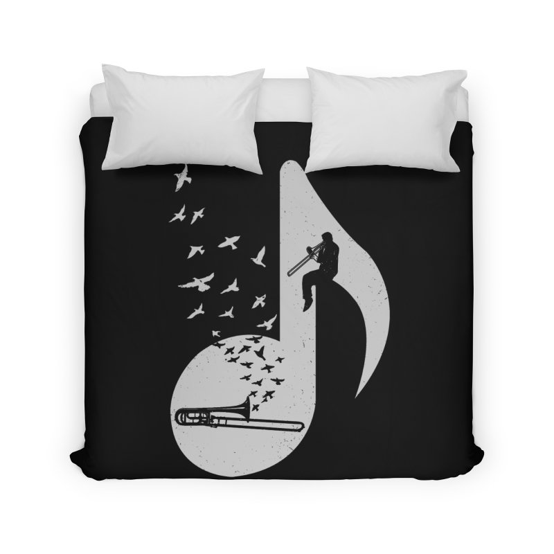 Musical note - Trombone Home Duvet by barmalisiRTB
