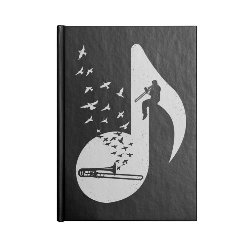 Musical note - Trombone Accessories Notebook by barmalisiRTB