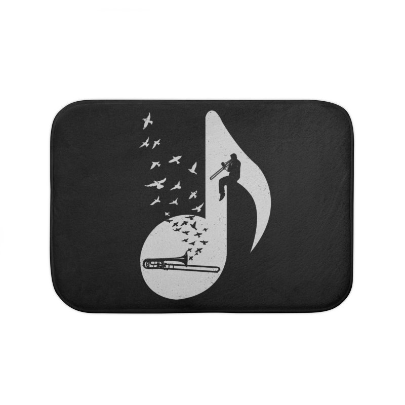 Musical note - Trombone Home Bath Mat by barmalisiRTB
