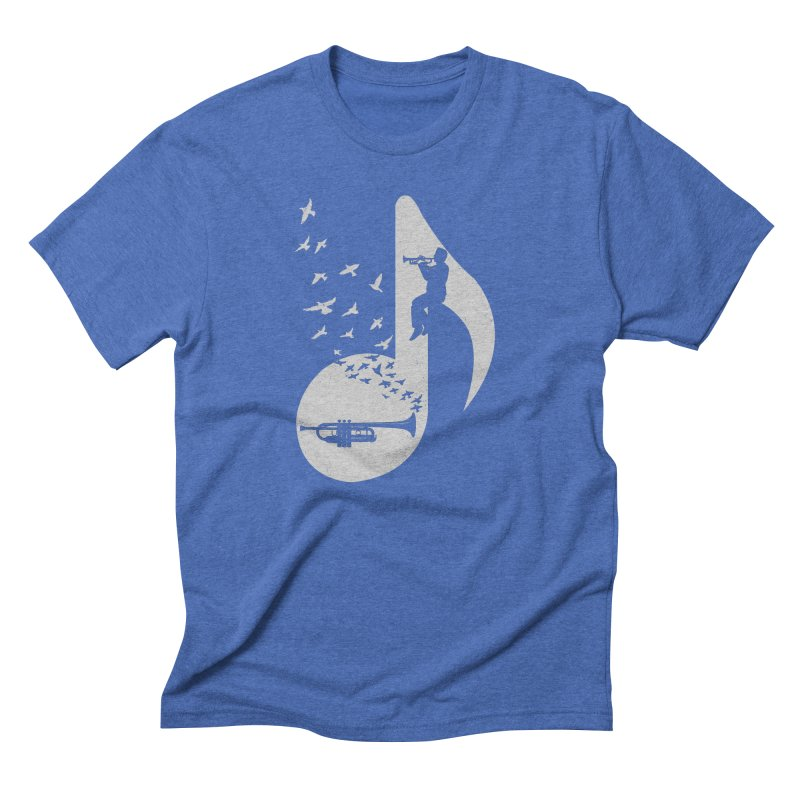Musical note - Trumpet Men's T-Shirt by barmalisiRTB