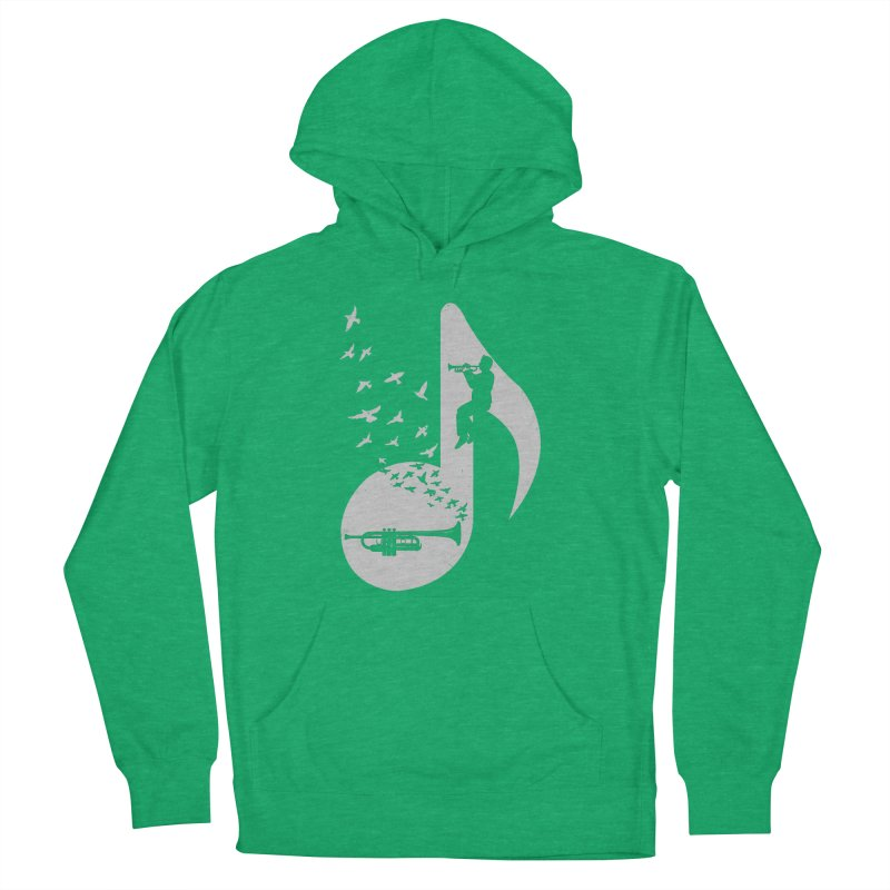 Musical note - Trumpet Women's Pullover Hoody by barmalisiRTB