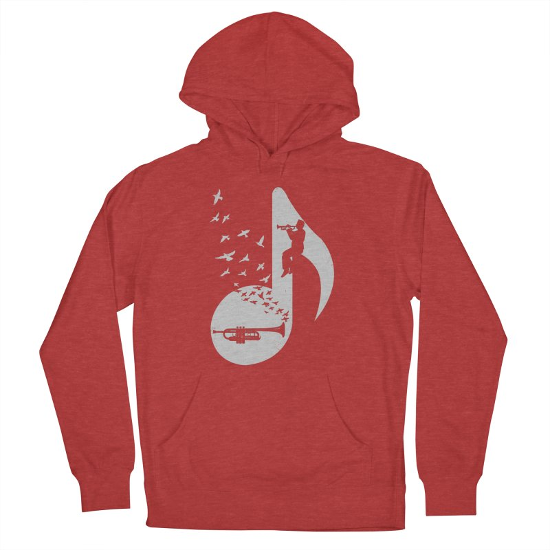 Musical note - Trumpet Women's French Terry Pullover Hoody by barmalisiRTB