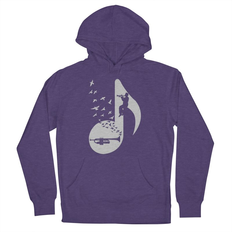 Musical note - Trumpet Men's French Terry Pullover Hoody by barmalisiRTB